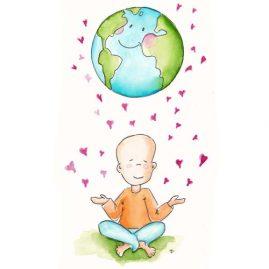 Illustratie De aarde heeft liefde nodig