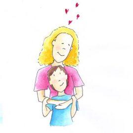Illustratie Moeder en kind