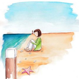 Illustratie Strand
