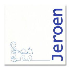 Geboortekaartje Jeroen