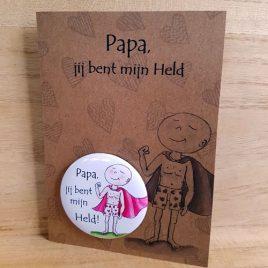 Illustratie Magneetkaart papa is mijn held