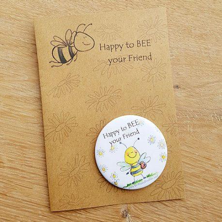 Magneetje kaart happy doodles spreuken