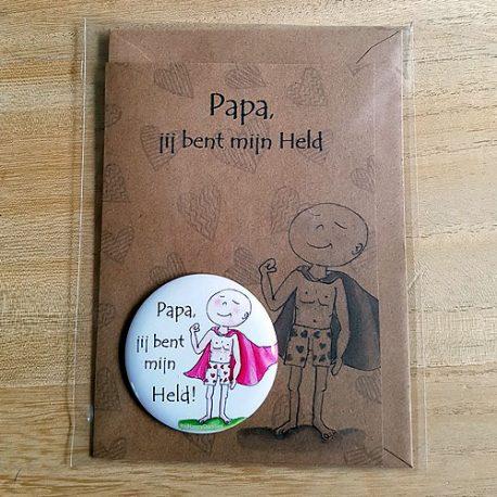 Papa mijn held kaart