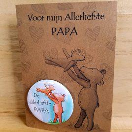 Beren, kaart, Illustrator, Assen, kinderboeken, magneetkaart, papa