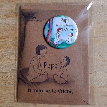 magneetkaart papa illustratie Assen