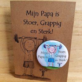 illustraties Assen magneetje kaart Papa