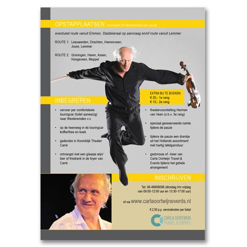 Digitale flyer Herman van Veen Grafisch vormgever Assen