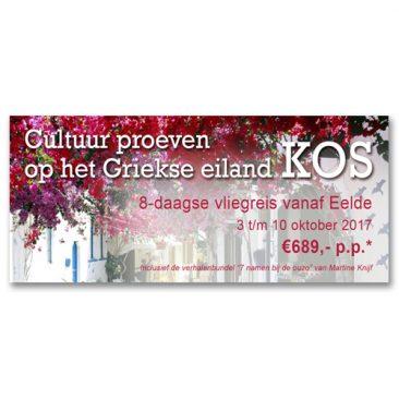 Digitale banner, reisbureau, grafisch vormgever Assen