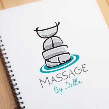 Logo ontwerp massage, huisstijl, visitekaartjes, enveloppen, briefpapier, flyers, stempelkaarten, stempels, grafisch vormgever Assen