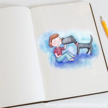 illustrator Assen, illustratie, aquarel, potlood, cartoon