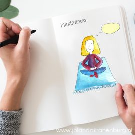 illustrator Assen, illustratie, aquarel, cartoon, yoga, mindfulness