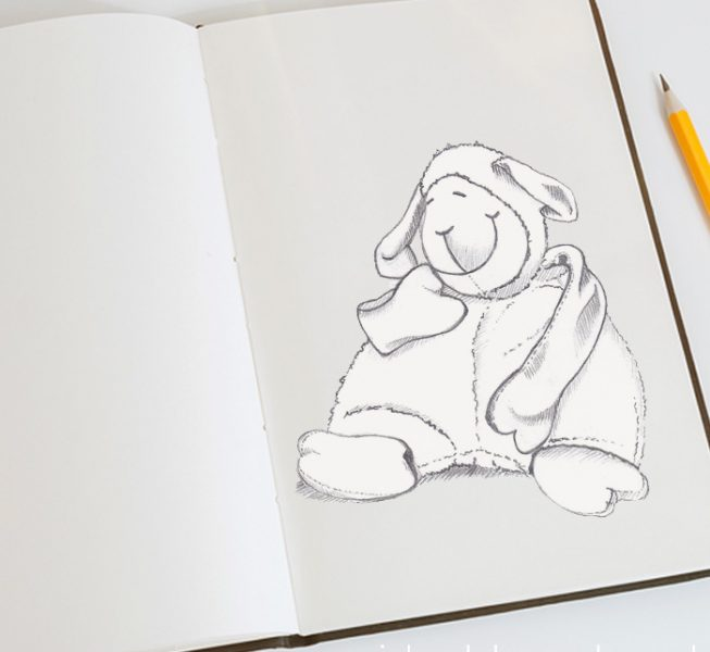 potlood illustratie persoonlijke geboortekaartjes assen